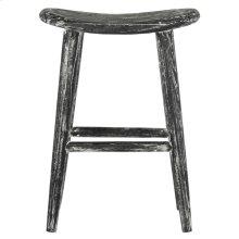 Colton Wood Counter Stool - Black / White