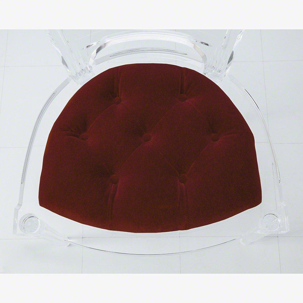 Marilyn Acrylic Arm Chair-Red Pepper