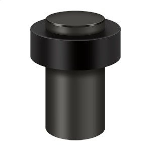 """Round Universal Floor Bumper 3"""", Solid Brass - Oil-rubbed Bronze Product Image"""