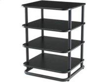 Black Audio Rack Modular furniture with a contemporary European flair