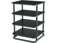 Black Audio Rack Modular furniture with a contemporary European flair