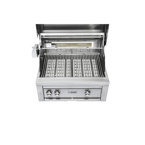 "30"" Lynx Professional Built In Grill with 2 Ceramic Burners and Rotisserie, NG"