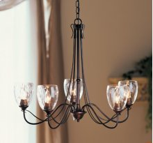 Chandelier: Trellis with five arms and water glass. U.S. Patent D 532,546 S