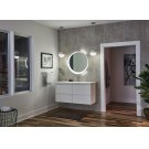Offset Round Lighted Mirror Product Image