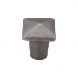 Aspen Square Knob 3/4 Inch - Silicon Bronze Light