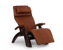 "Perfect Chair PC-LiVE "" PC-600 Omni-Motion Silhouette - Cognac Premium Leather - Dark Walnut"