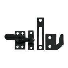 Window Lock, Casement Fastener, Small - Paint Black