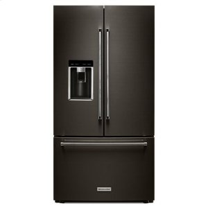 "KITCHENAIDKitchenAid(R) 23.8 cu. ft. 36"" Counter-Depth French Door Platinum Interior Refrigerator with PrintShield(TM) Finish - Black Stainless"