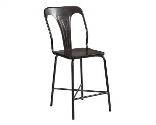 Chimney Gaven Metal Stamped Barstool