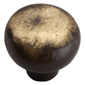 Distressed Round Knob 1 3/8 Inch - Antique Bronze