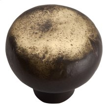 Distressed Round Knob 1 3/8 Inch - Antique Bronze