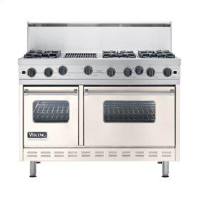 "Oyster Gray 48"" Open Burner Commercial Depth Range - VGRC (48"" wide, six burners 12"" wide char-grill)"