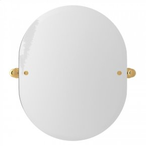 "English Gold Perrin & Rowe Wall Mount 24 7/16"" Oval Mirror"