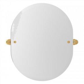 "English Gold Perrin & Rowe Edwardian Wall Mount 24 7/16"" Oval Mirror"