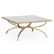 glomise and Gilded Square Coffee Table