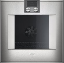 "400 series single oven BO 450 611 Stainless steel-backed full glass door Width 24"" (60 cm) Right-hinged"