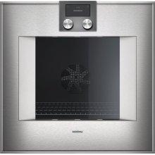 "400 series single oven BO 450 610 Stainless steel-backed full glass door Width 24"" (60 cm) Right-hinged"