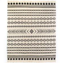 8'x10' Size Black Patterned Stripe Rug