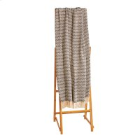 Navy & Cream Herringbone Throw Product Image