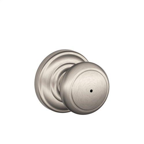 Andover Knob with Andover trim Bed & Bath Lock - Oil Rubbed Bronze