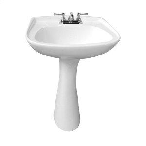 Hartford Pedestal Lavatory - White Product Image