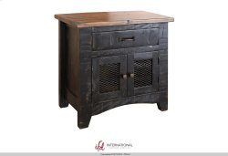 1 Drawer, 2 Mesh door Nightstand Product Image