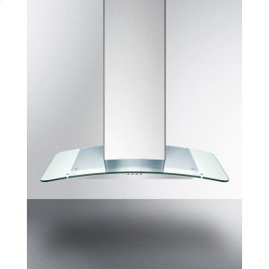 "Summit36"" European 650 Cfm Range Hood In Stainless Steel With A Tempered Glass Canopy"