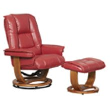 R-116 Pluto Brick Leather Recliner