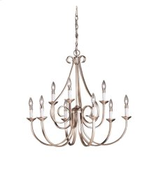Dover Collection Dover 9 Light - 2 Tier Chandelier - Brushed Nickel