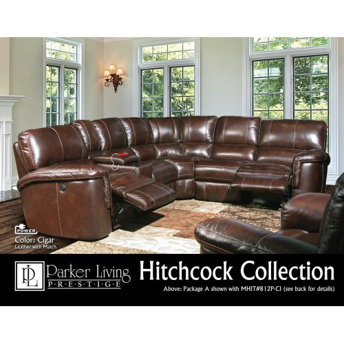 Hitchcock Cigar Power Right Arm Facing Recliner