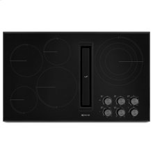 "Black Floating Glass 36"" JX3 Electric Downdraft Cooktop"