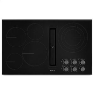 "Jenn-Air Black Floating Glass 36"" Jx3 Electric Downdraft Cooktop"