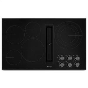 "Black Floating Glass 36"" JX3 Electric Downdraft Cooktop"