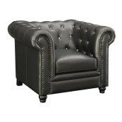 Roy Traditional Gunmetal Grey Chair