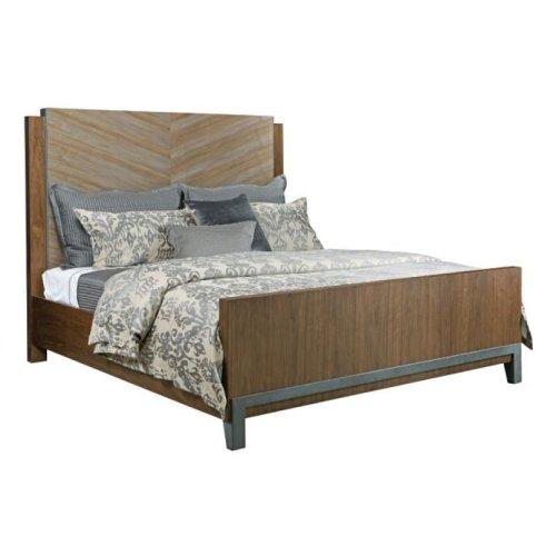 Chevron Maple Queen Bed Package