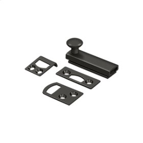 """2"""" Surface Bolt, Concealed Screw, HD - Oil-rubbed Bronze"""