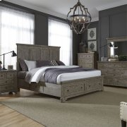 Queen Two Sided Storage Bed, Dresser & Mirror, Chest, NS Product Image