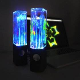 Boom2O Speakers with Sound Responsive Water and Light Show - Multi
