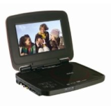 "7"" Portable DVD Player with SD Slot and USB Port"