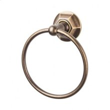 Edwardian Bath Ring Hex Backplate - German Bronze