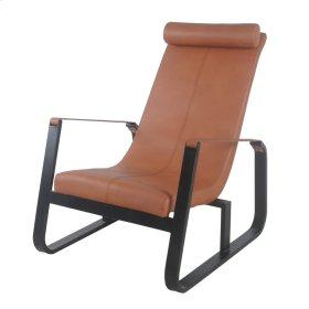 Aeron PU Belt Accent Chair Black Frame, Earthen Pottery