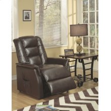 Brown Leather Match Power Recliner