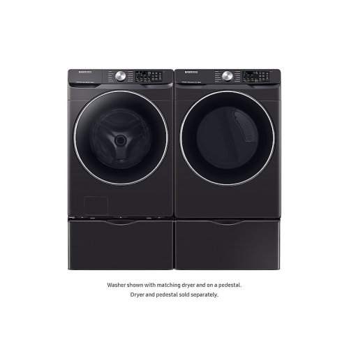 WF6300 4.5 cu. ft. Smart Front Load Washer with Super Speed in Black Stainless Steel