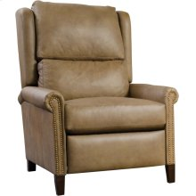 Power Recliner, Leather Woodlands Small Roll Arm Recliner