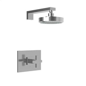 Uncoated Polished Brass - Living Balanced Pressure Shower Trim Set