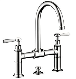 Chrome Widespread Faucet w/Lever Handles, Bridge Model Product Image