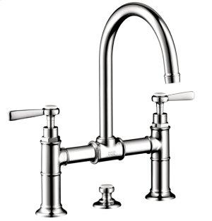 Chrome Widespread Faucet w/Lever Handles, Bridge Model Product Image