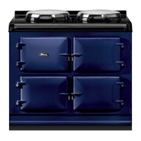 """AGA Total Control 39"""" Electric Dark Blue with Stainless Steel trim"""