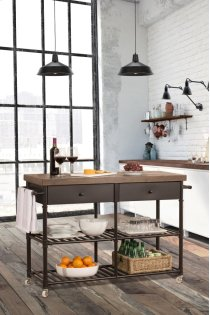 Casselberry Kitchen Cart With Wood Top Product Image