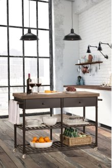 Casselberry Kitchen Cart With Wood Top